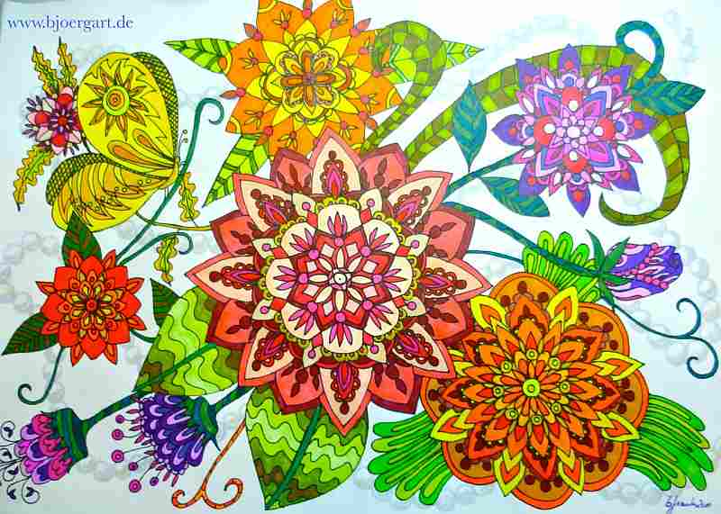 Title: FLOWERS OF MANDALAS