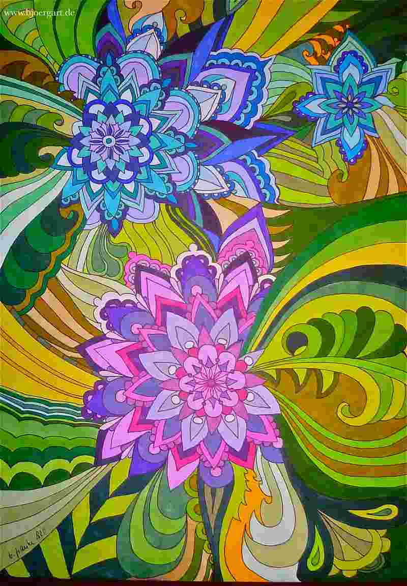 Title: FLOWERS OF MANDALAS Vl